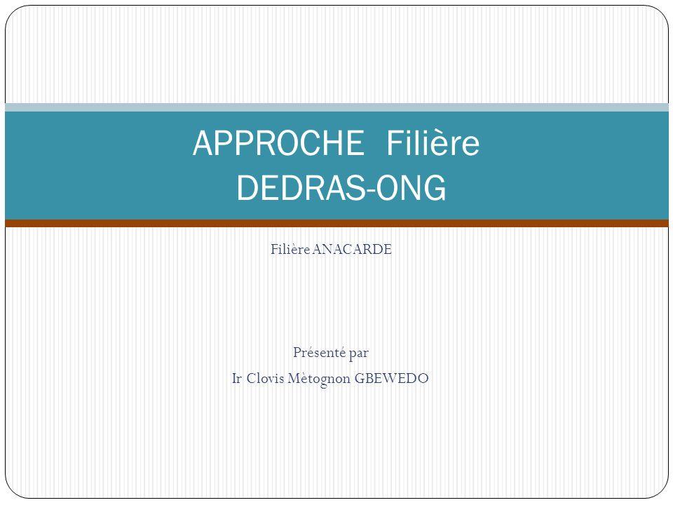 APPROCHE Filière DEDRAS-ONG