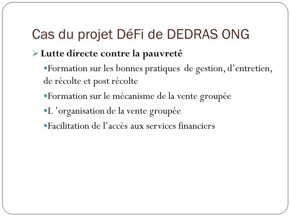 Cas du projet DéFi de DEDRAS ONG