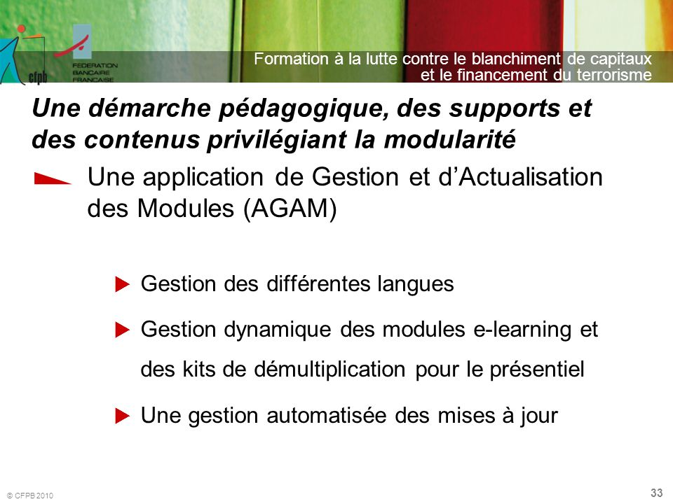 Une application de Gestion et d'Actualisation des Modules (AGAM)