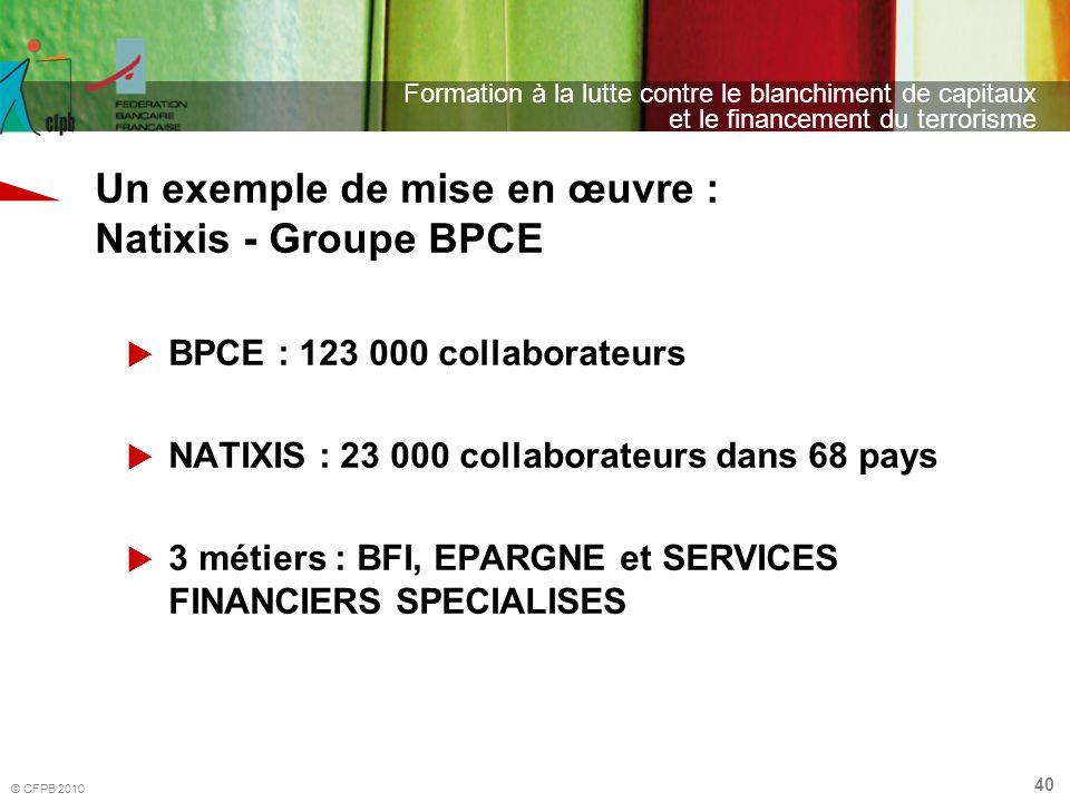 Un exemple de mise en œuvre : Natixis - Groupe BPCE