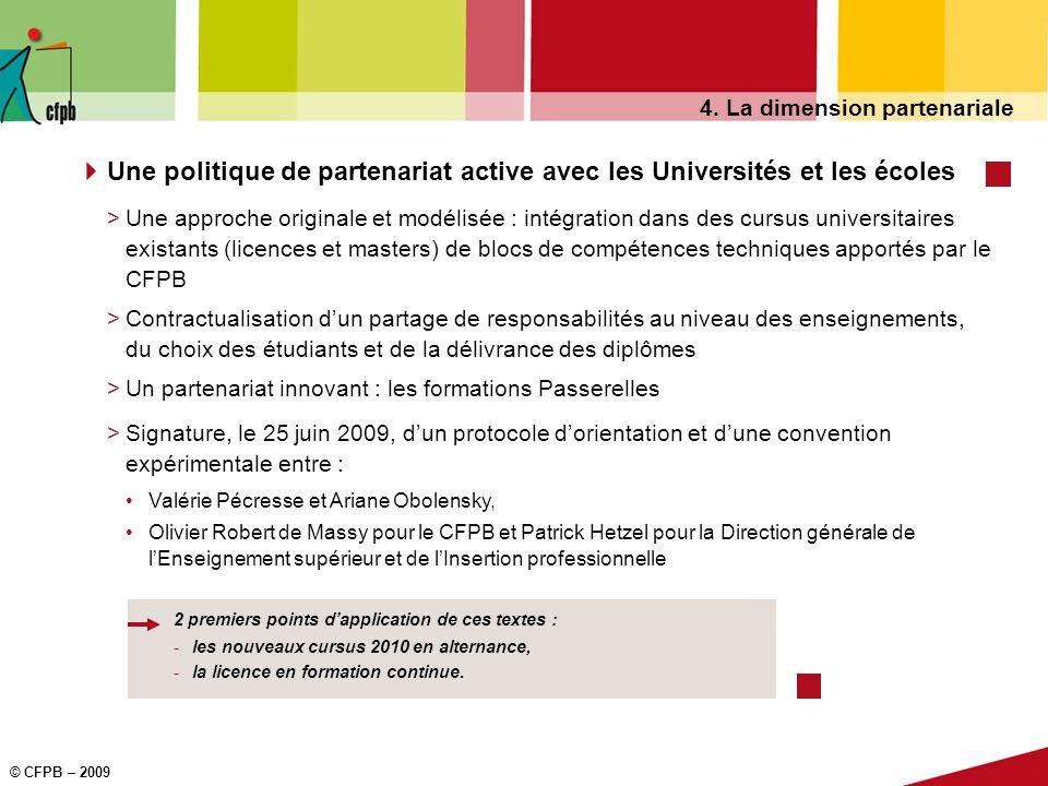 Une politique de partenariat active avec les Universités et les écoles