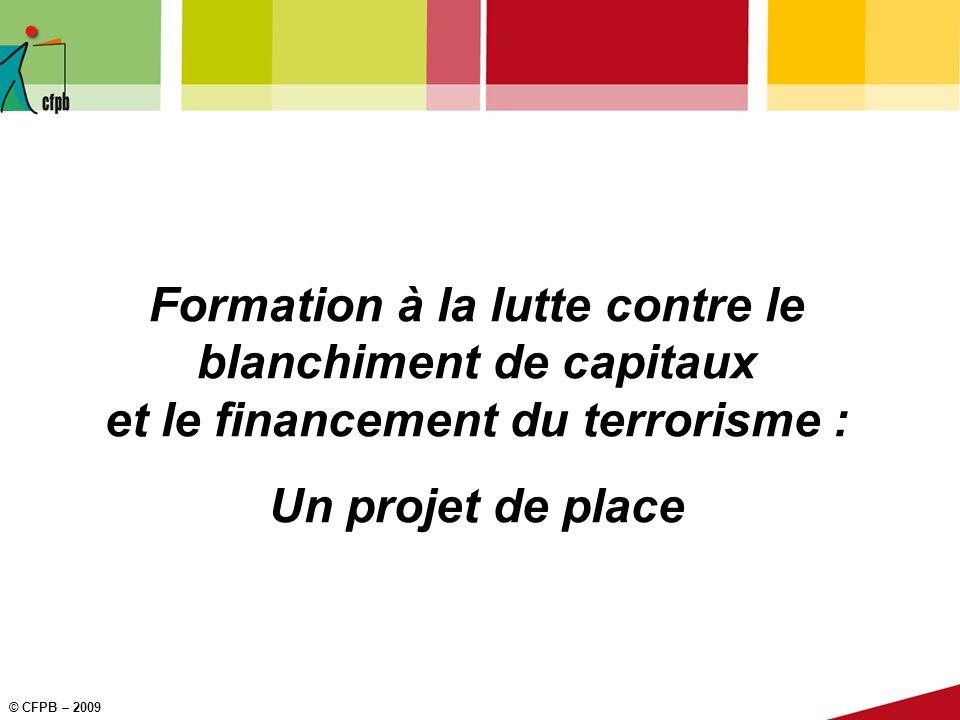 Formation à la lutte contre le blanchiment de capitaux et le financement du terrorisme :