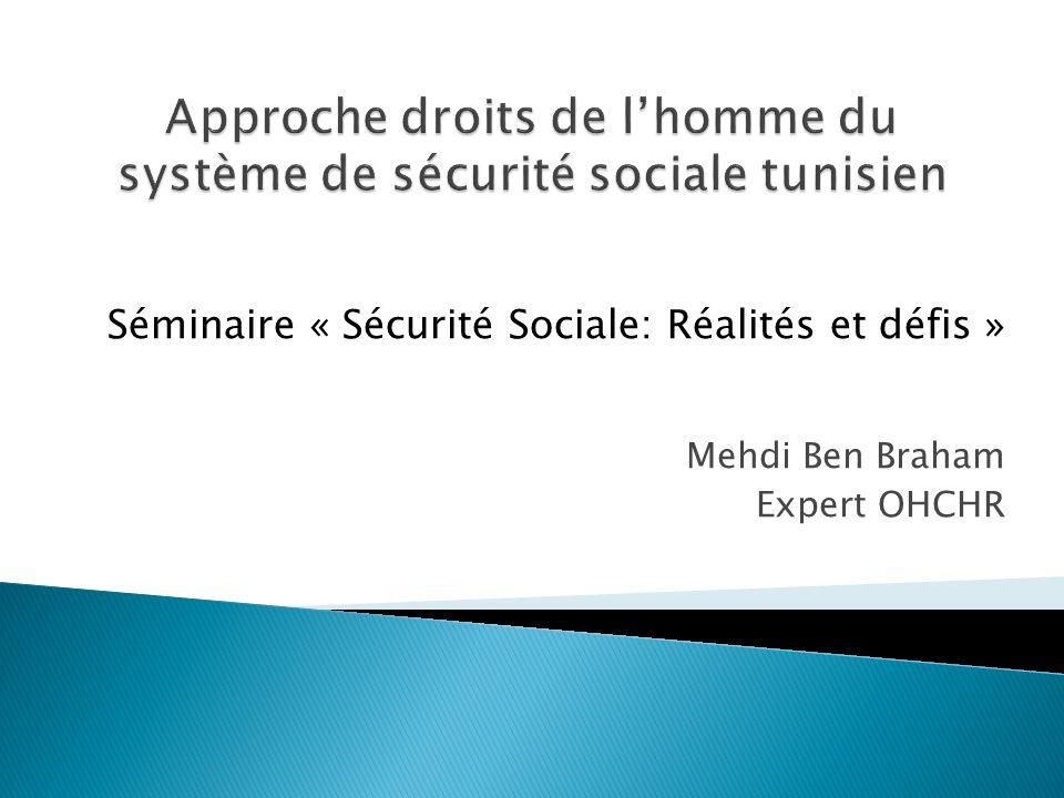 Approche droits de l'homme du système de sécurité sociale tunisien