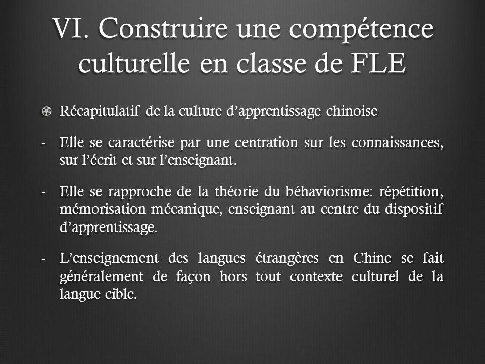 VI. Construire une compétence culturelle en classe de FLE