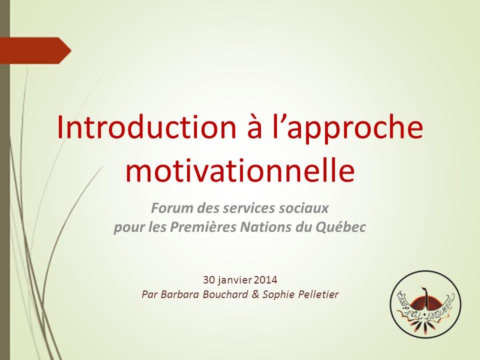 Introduction à l'approche motivationnelle