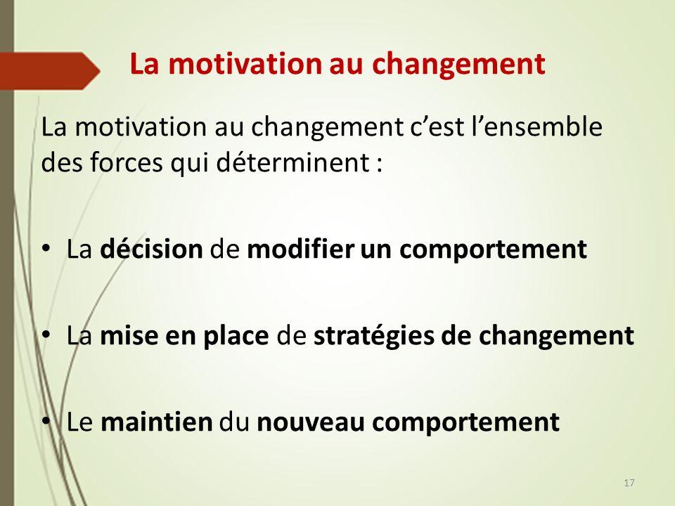 La motivation au changement