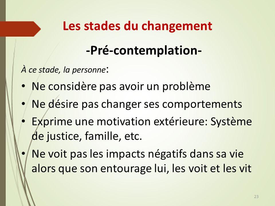 Les stades du changement
