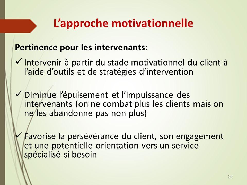 L'approche motivationnelle