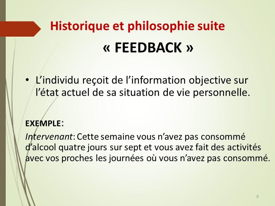 Historique et philosophie suite