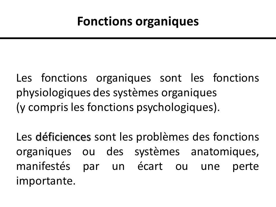 Fonctions organiques Les fonctions organiques sont les fonctions physiologiques des systèmes organiques.
