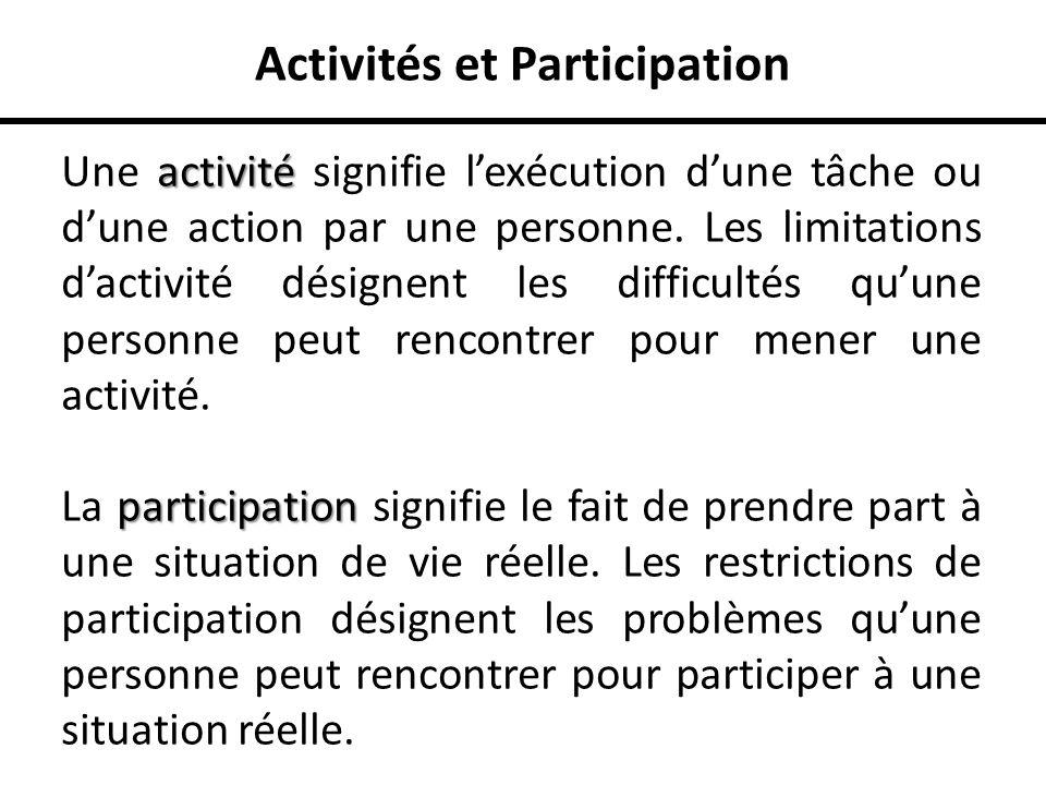 Activités et Participation
