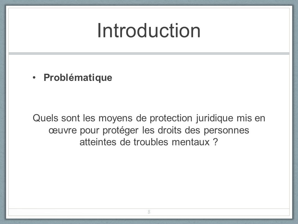 Introduction Problématique