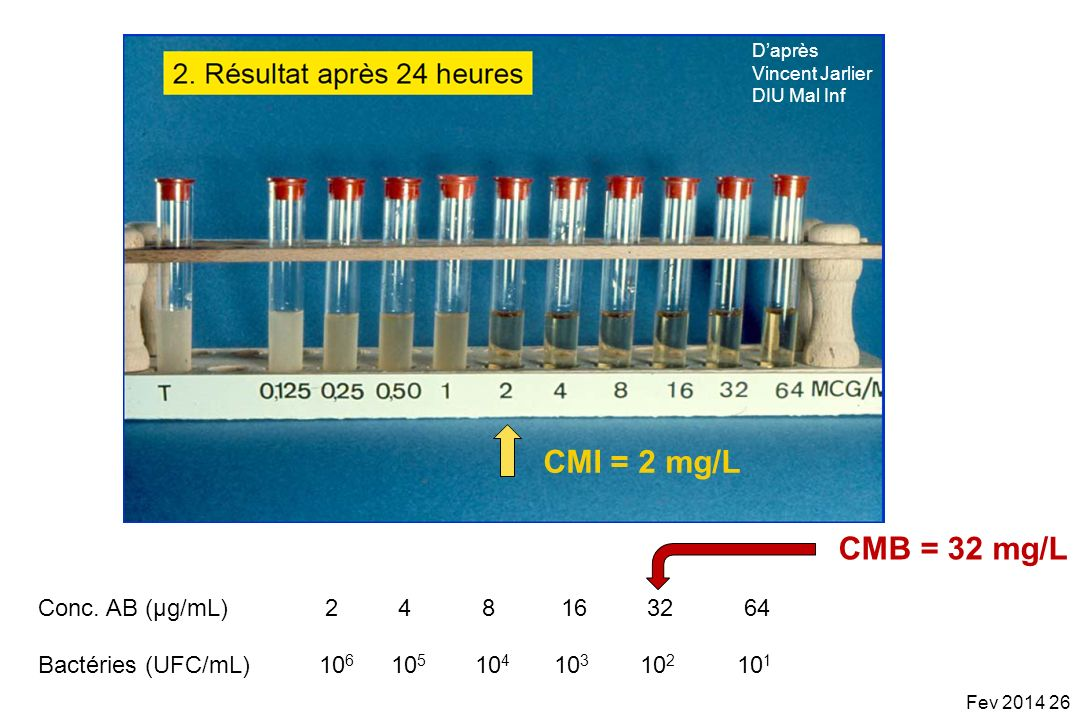 CMI = 2 mg/L CMB = 32 mg/L Conc. AB (µg/mL) 2 4 8 16 32 64