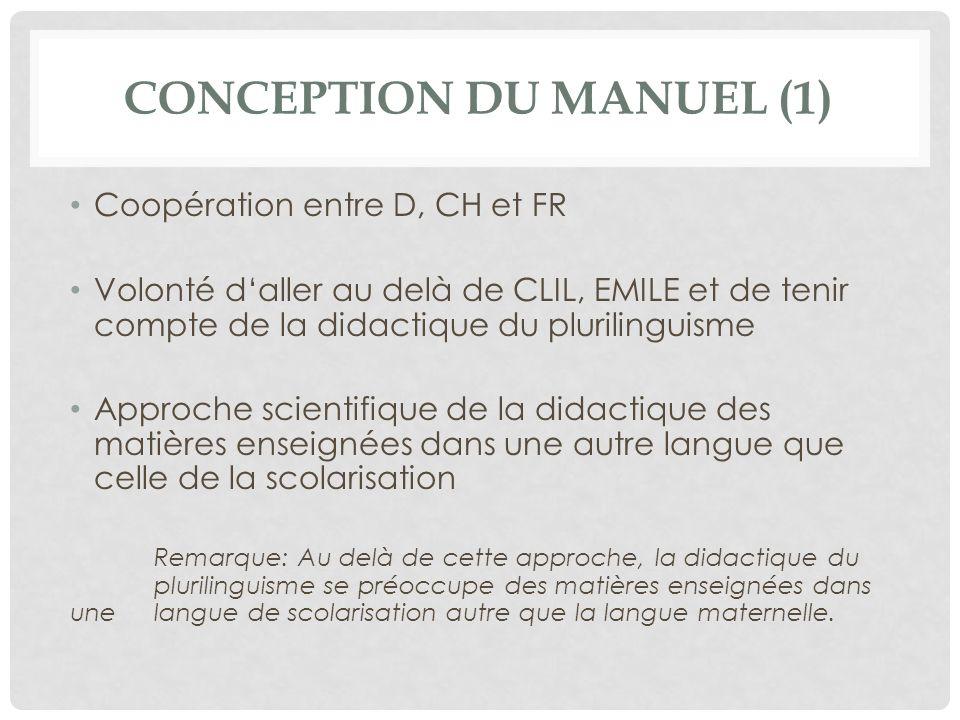 Conception du manuel (1)