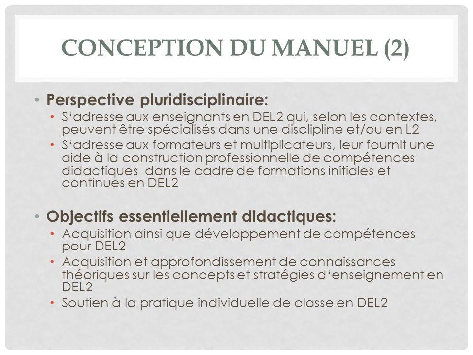 Conception du manuel (2)