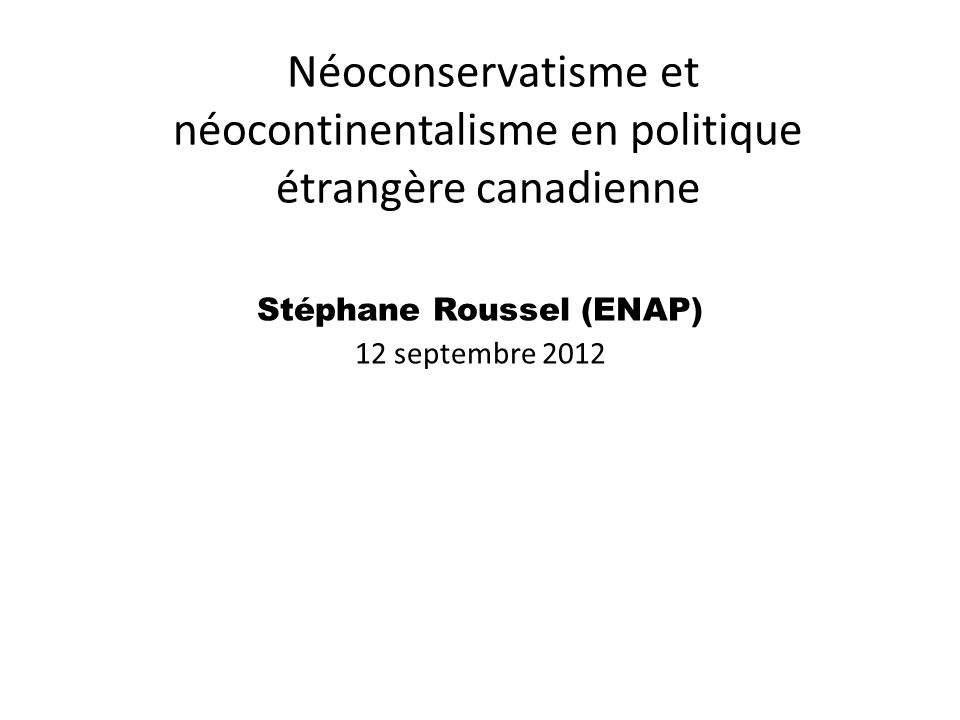 Stéphane Roussel (ENAP)