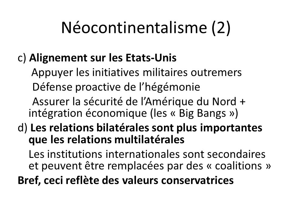 Néocontinentalisme (2)