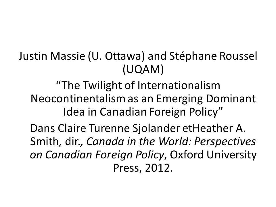 Justin Massie (U. Ottawa) and Stéphane Roussel (UQAM)