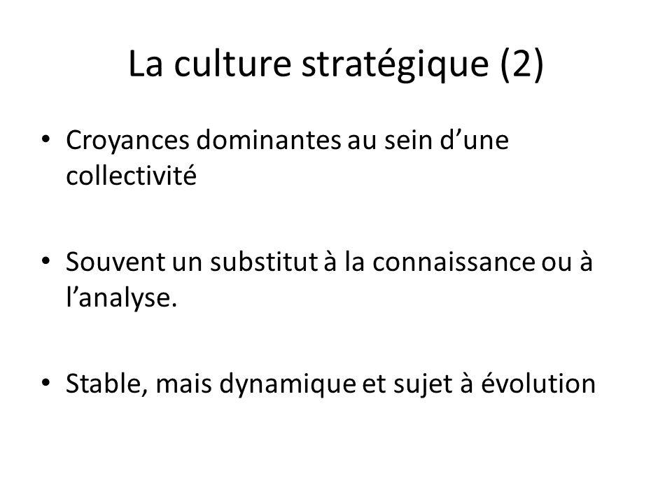 La culture stratégique (2)