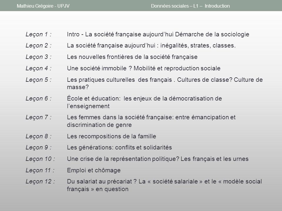 Leçon 3 : Les nouvelles frontières de la société française