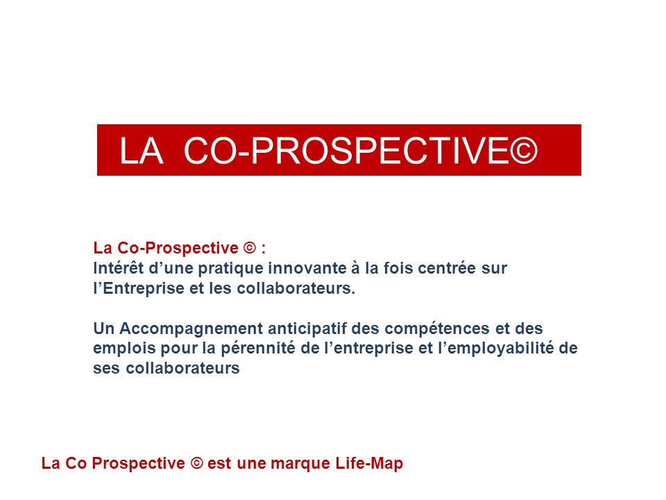 LA CO-PROSPECTIVE© La Co-Prospective © :