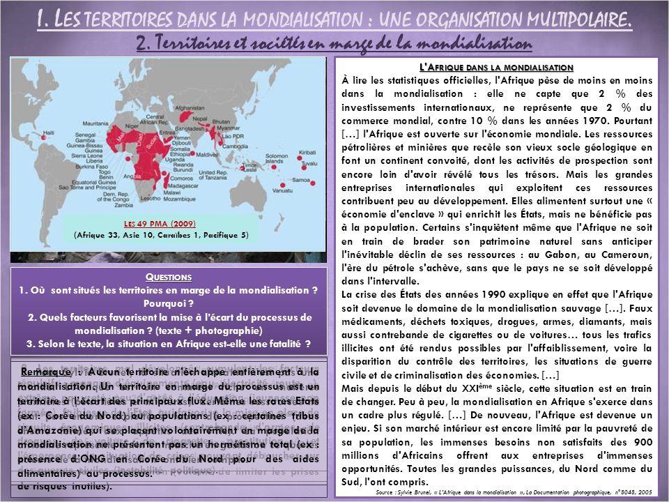 2. Territoires et sociétés en marge de la mondialisation