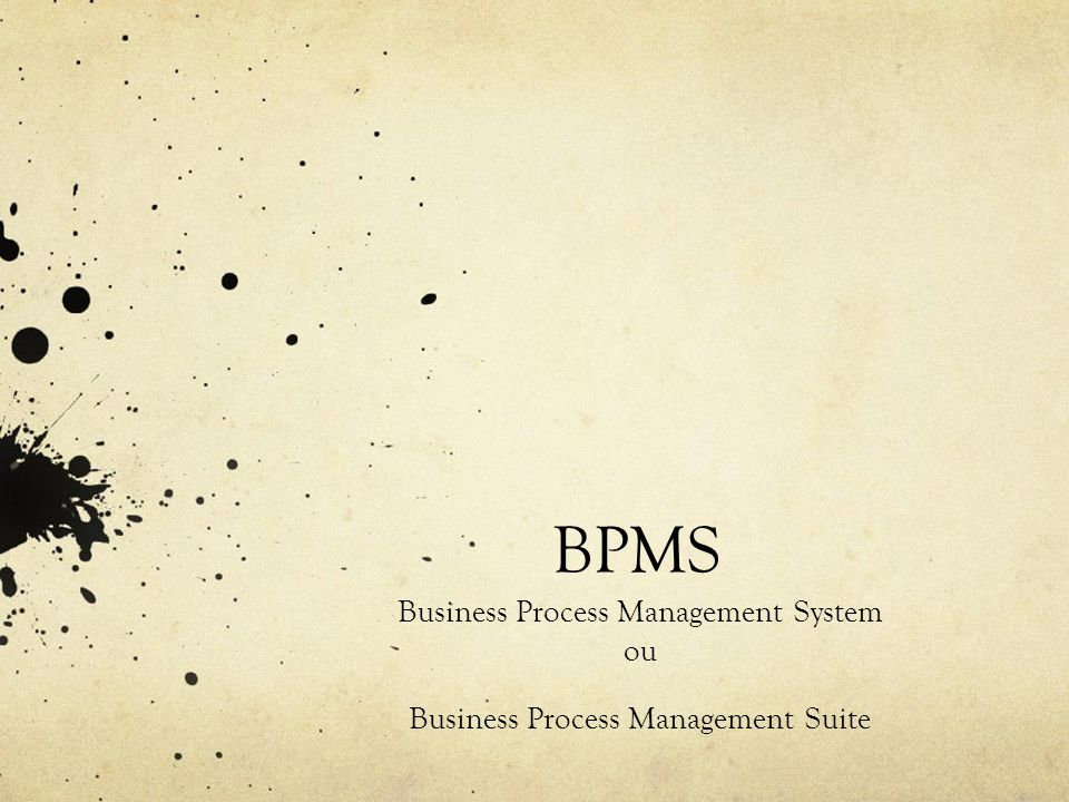 BPMS Business Process Management System ou
