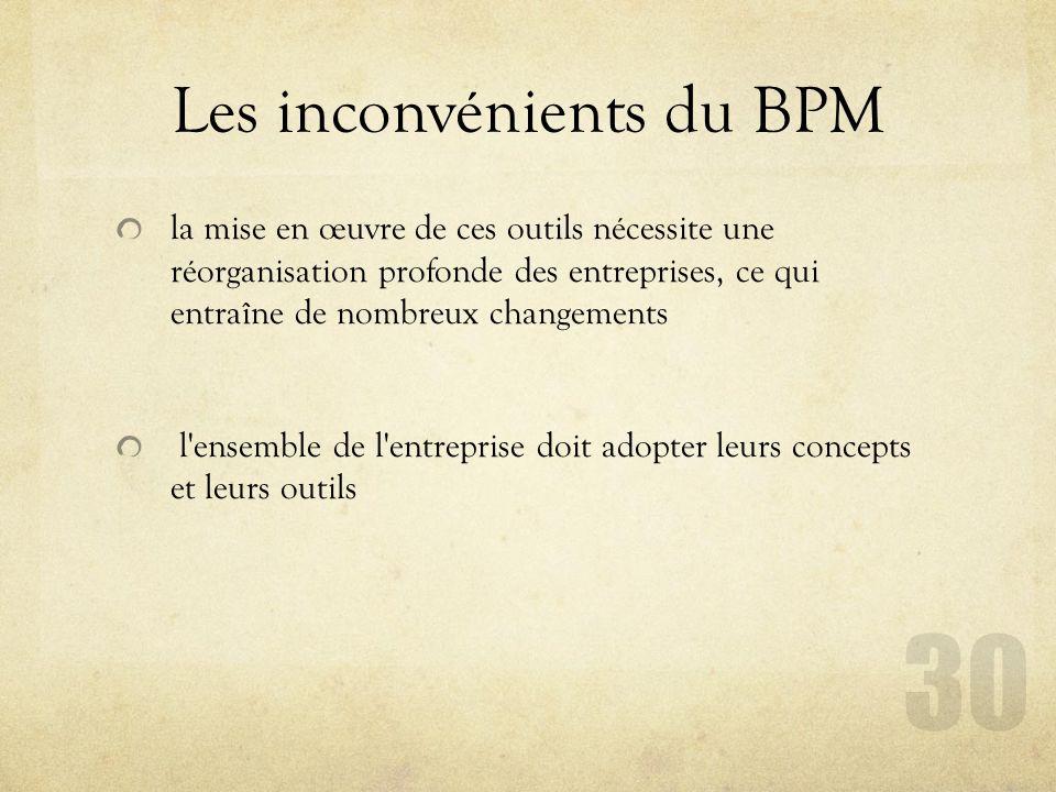 Les inconvénients du BPM