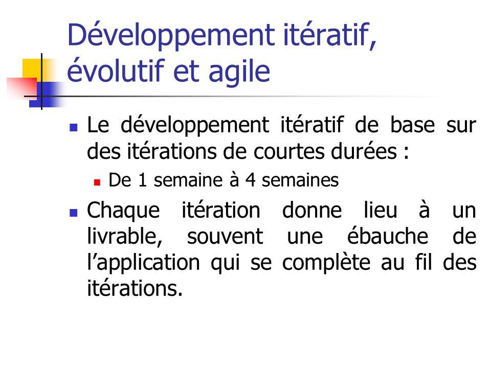 Développement itératif, évolutif et agile
