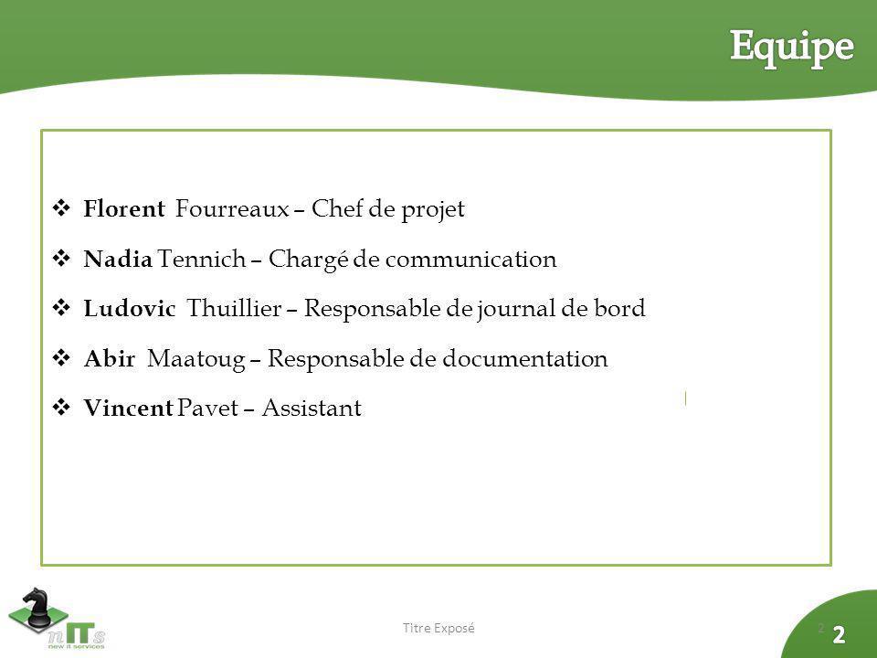 Equipe Florent Fourreaux – Chef de projet