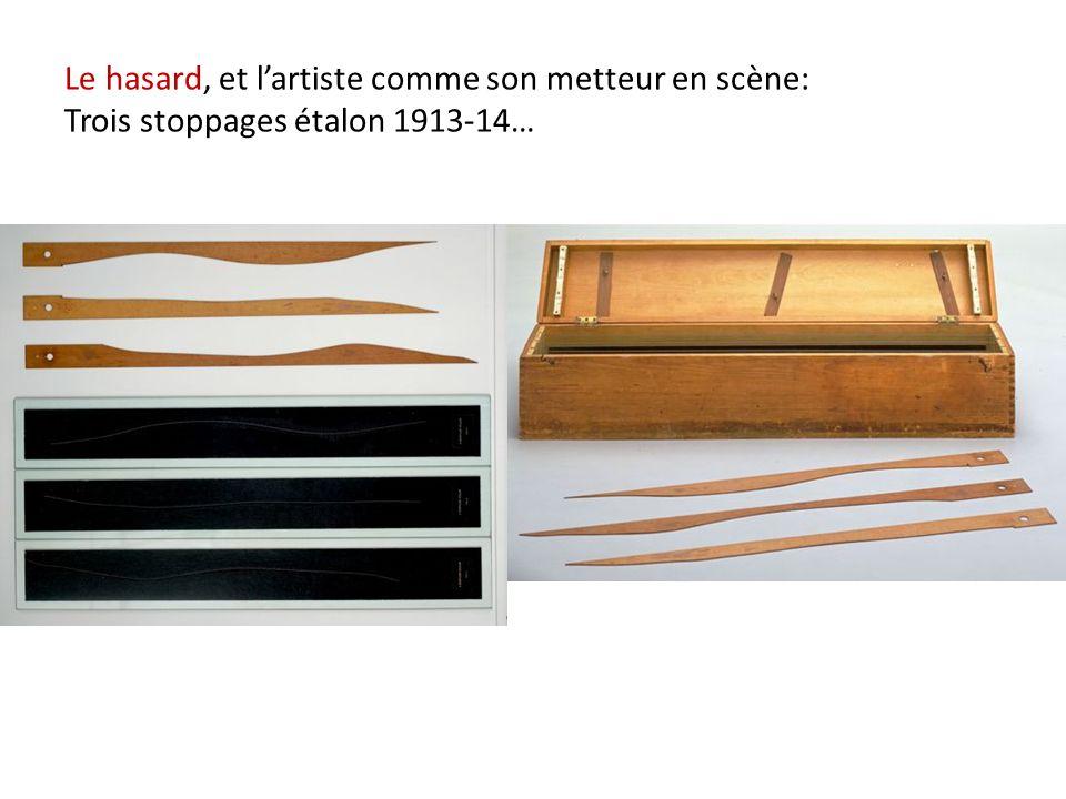 Le hasard, et l'artiste comme son metteur en scène: Trois stoppages étalon 1913-14…