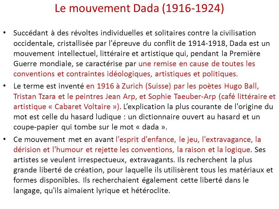 Le mouvement Dada (1916-1924)