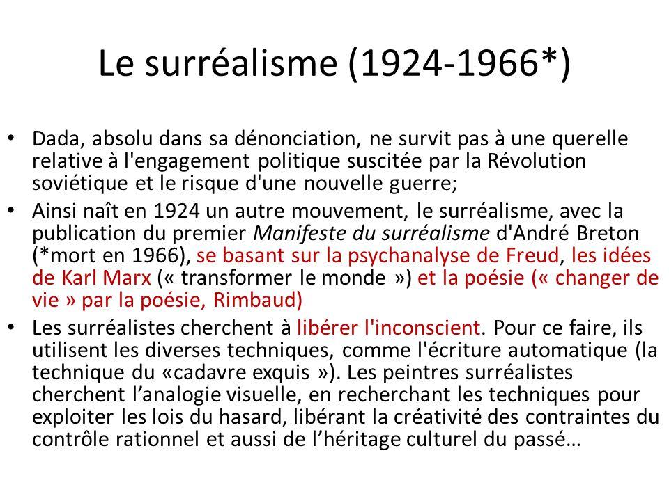 Le surréalisme (1924-1966*)