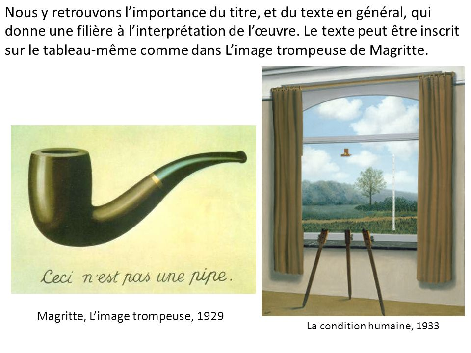Magritte, L'image trompeuse, 1929
