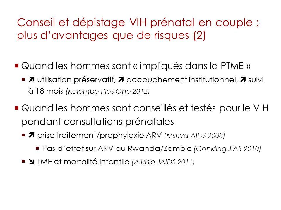 Conseil et dépistage VIH prénatal en couple : plus d'avantages que de risques (2)