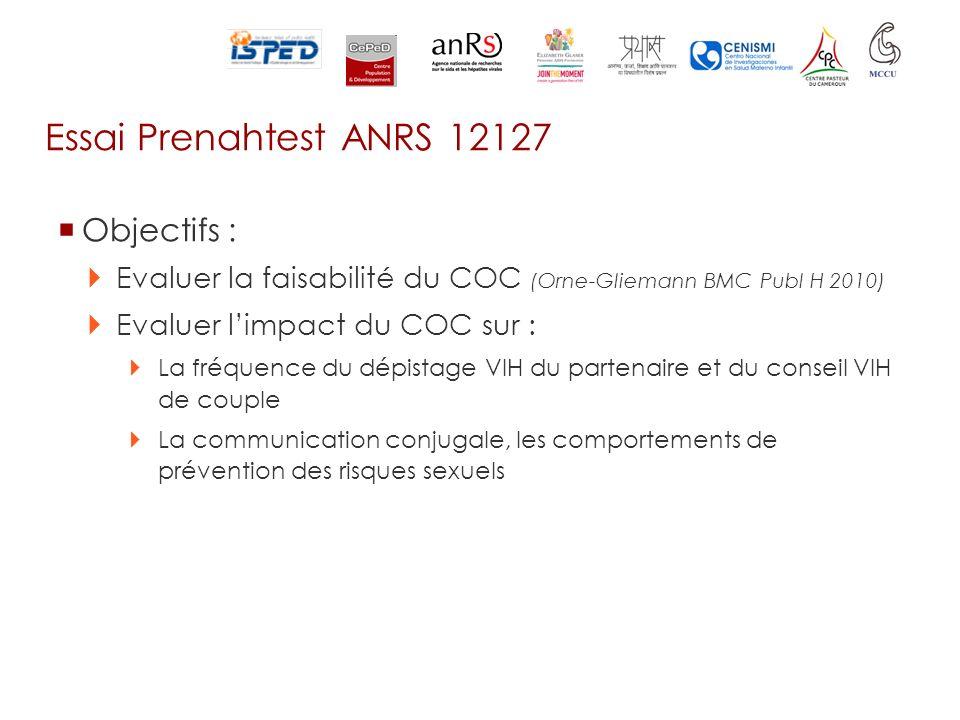 Essai Prenahtest ANRS 12127 Objectifs :