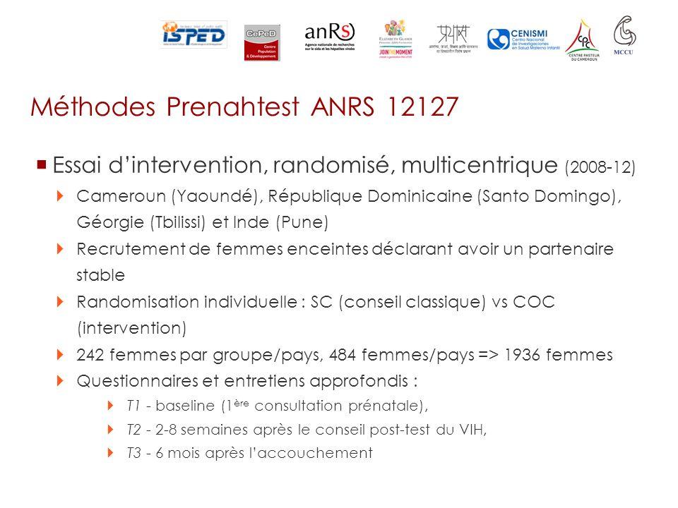 Méthodes Prenahtest ANRS 12127