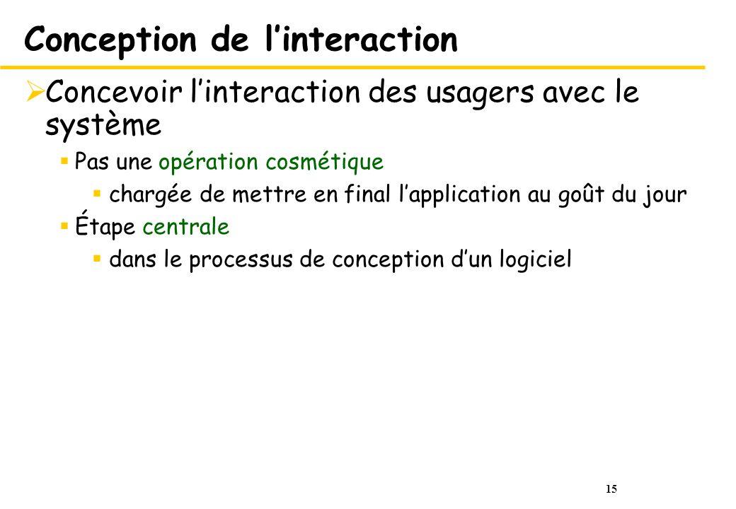 Conception de l'interaction