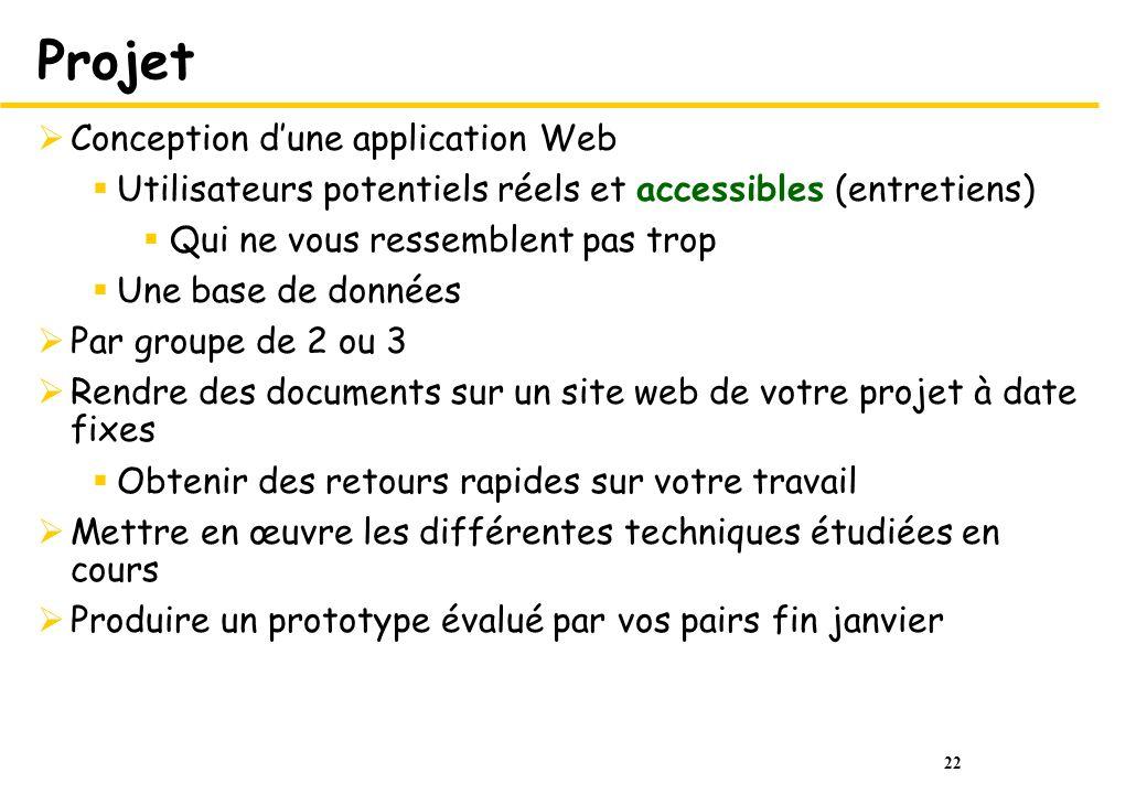 Projet Conception d'une application Web