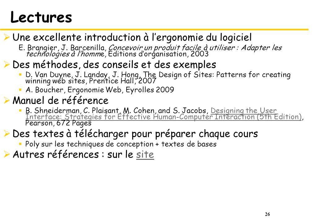 Lectures Une excellente introduction à l'ergonomie du logiciel