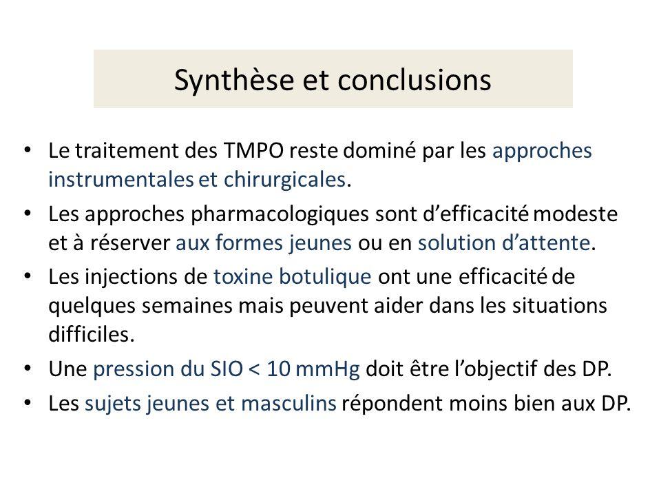 Synthèse et conclusions