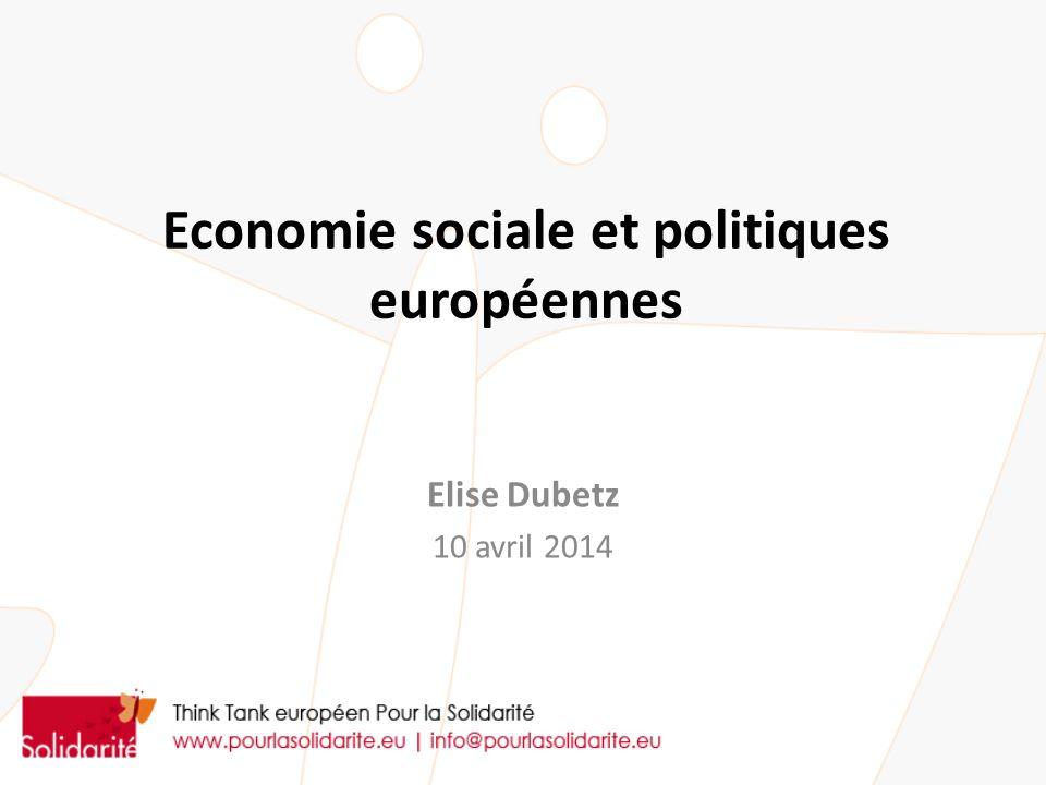 Economie sociale et politiques européennes