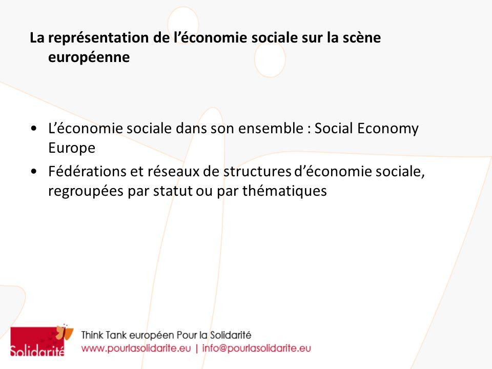 La représentation de l'économie sociale sur la scène européenne
