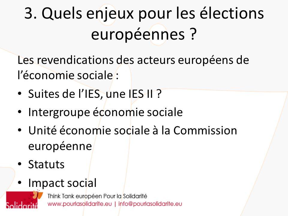3. Quels enjeux pour les élections européennes