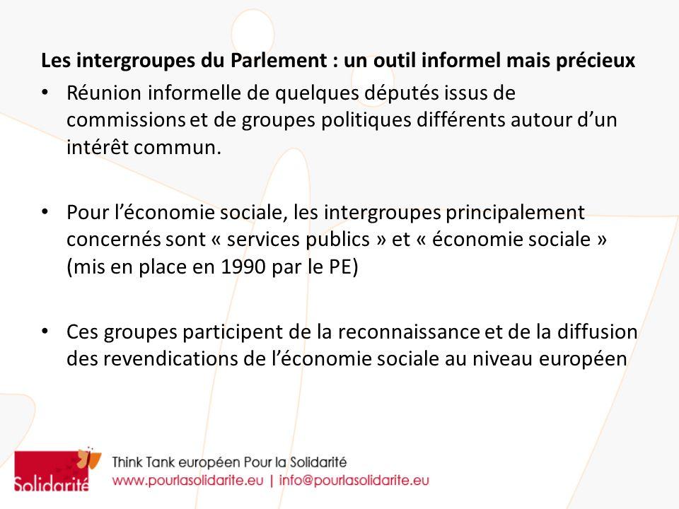 Les intergroupes du Parlement : un outil informel mais précieux