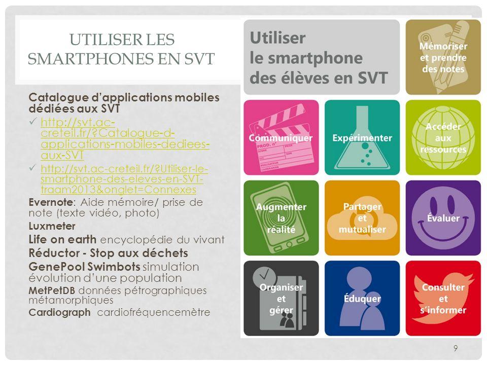 Utiliser les smartphones en SVT