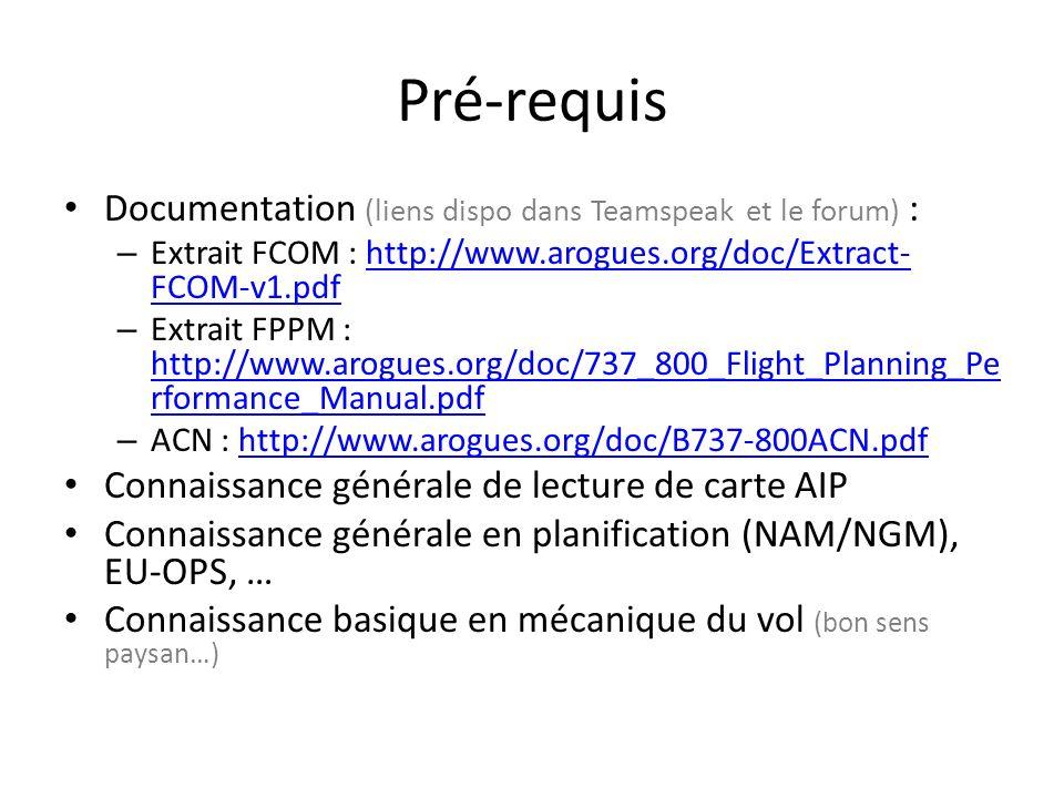 Pré-requis Documentation (liens dispo dans Teamspeak et le forum) :