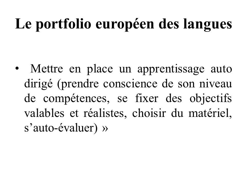 Le portfolio européen des langues