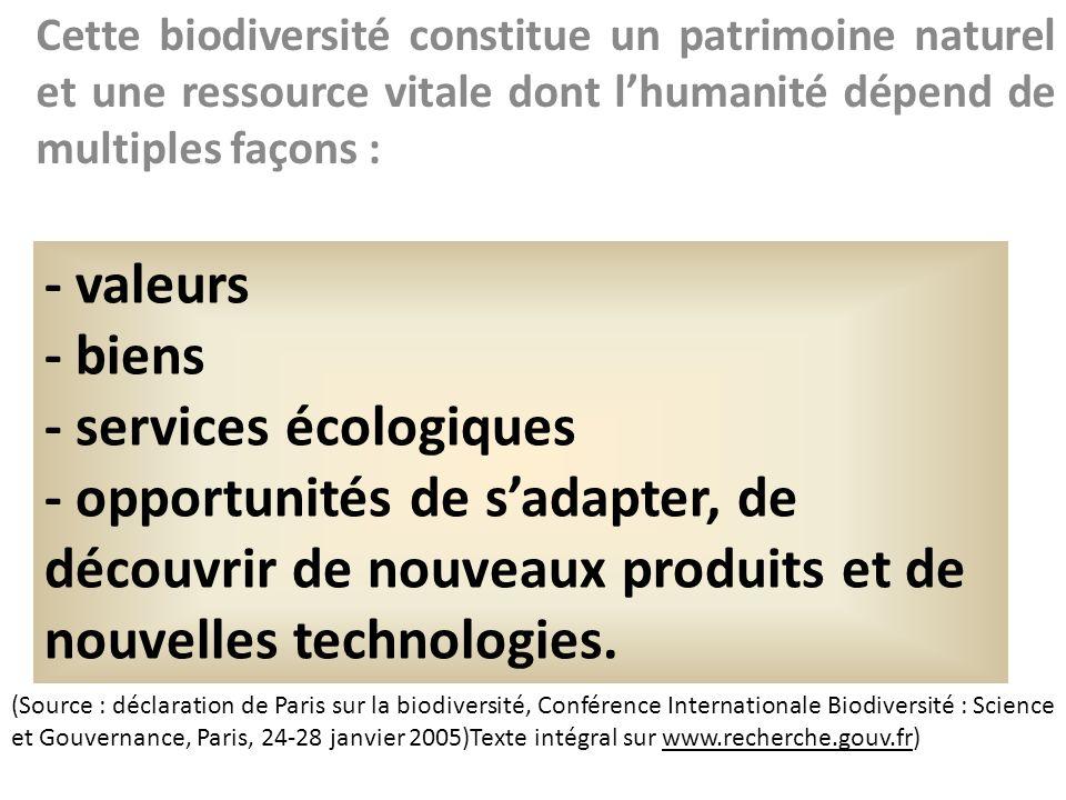 - services écologiques