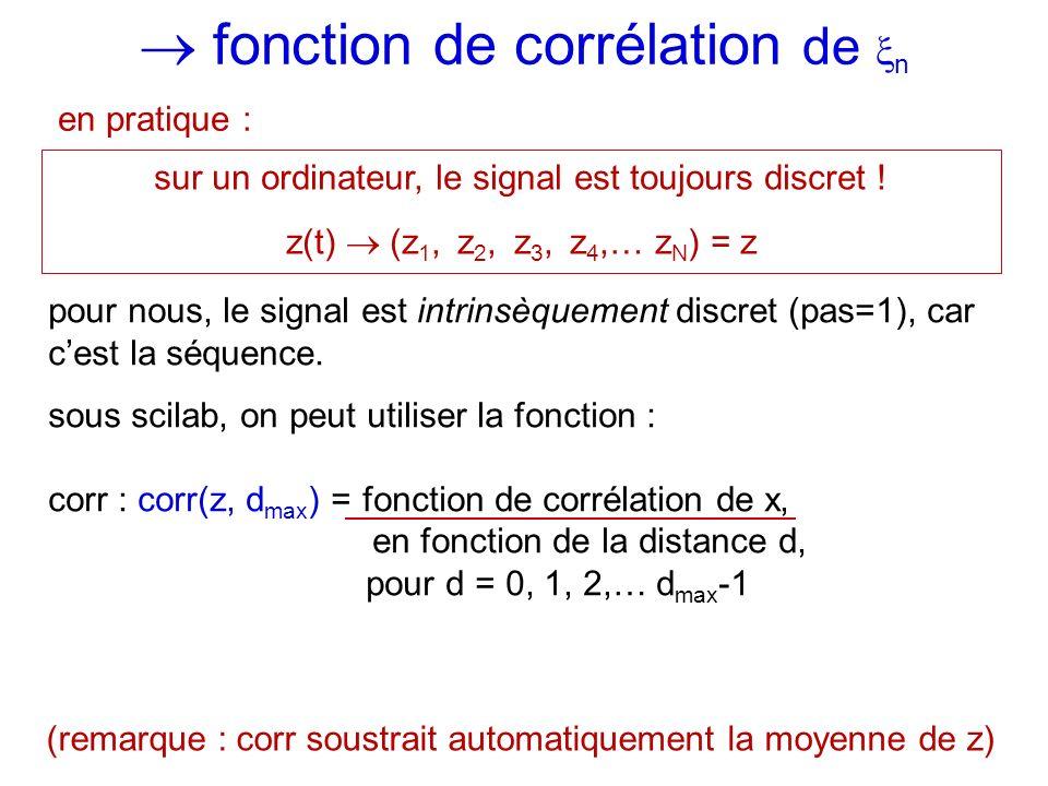  fonction de corrélation de n